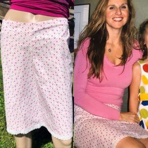 Floral Lace Hem A-Line Skirt! EUC!
